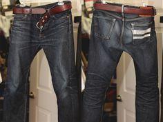 Momotaro 0705SP Momotaro Jeans, Denim Fashion, Fashion Outfits, Japanese Denim, Raw Denim, Joes Jeans, Blue Jeans, Leather Boots, Vintage Fashion