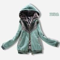 2013 autumn and winter thick cashmere hooded padded jacket coat cute