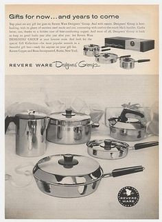 1962 Revere Ware Designers Group Cookware Print Ad