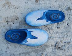 Aceberg handmade felt slippers made to order