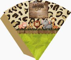 Fazendo a Propria Festa: KIT DE PERSONALIZADOS TEMA SAFARI Safari Theme Birthday, Safari Party, Jungle Safari, Birthday Party Themes, Safari Cakes, Party Background, Festa Party, Childrens Party, Animal Party