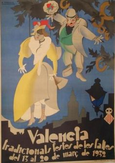 By Antonio Vercher (1900-1934), 1932, Valencia: Tradicionals festes de les falles. (S)