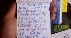 Comedian Mitch Hedberg's widow shares some of his notebooks and talks about his creative process.