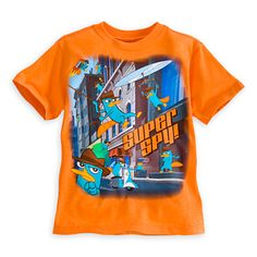 SIZE 4 Perry Agent P Tee for Boys | Tees, Tops & Shirts | Disney Store