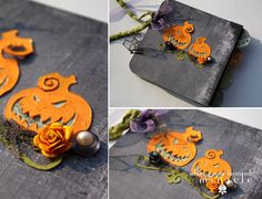 halloween mini scrapbook album - glow in the dark