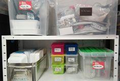 rangement de matériel dans le garage : toujours fermé, mais avec des étiquettes ! Garage, Cave, Ikea, Organization, Carport Garage, Ikea Co, Garages, Caves, Car Garage