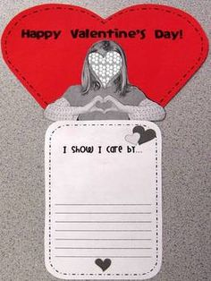 Valentine's Day writing activity~  Teach your students about the history of Valentine's Day and define a valentine before writing about the ways they show family and friends they care. Includes anchor charts, and prewriting graphic organizers.