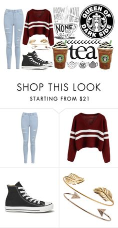 """Falling In Love At A Coffee Shop - Landon Pigg"" by bewitched-bodyandsoul ❤ liked on Polyvore featuring Miss Selfridge, Converse, Tai and Grace"