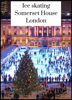 Ice skating at Somerset House, London Days Out In London, London With Kids, Things To Do In London, London Life, Ice Skating London, London Christmas, London Winter, Christmas Travel, Indoor Activities For Kids