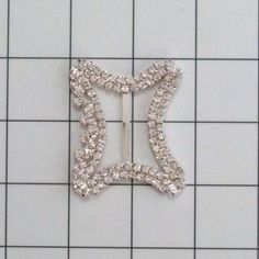 12 Swarovski Crystal ART DECO BUCKLES For Bouquets by allysonjames