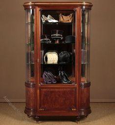 Large Paris Shop Display Cabinet C.1910. - Antiques Atlas Antique Display Cabinets, Antique Shops, Glass Shelves, Antique Furniture, Interiors, Paris, The Originals, Antiques, Storage