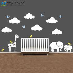 Ucuz Jungle Hayvanlar ve Bulutlar ile kreş Duvar resmi Vinil Duvar Sticker Duvar Sanat Çocuk Çocuk Odası Dekorasyon, Satın Kalite duvar çıkartmaları doğrudan Çin Tedarikçilerden: Jungle Hayvanlar ve Bulutlar ile kreş Duvar resmi Vinil Duvar Sticker Duvar Sanat Çocuk Çocuk Odası Dekorasyon
