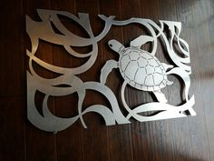 Laser Cut Metal Decorative Wall Art Panel Sculpture for Home, Office, Indoor or Outdoor Use (Turtle Horizontal) - Metal Art Laser Cut Aluminum, Laser Cut Metal, Laser Cutting, Metal Tree Wall Art, Panel Wall Art, Metal Art, Plasma Cutter Art, Metal Panels, Metal Crafts