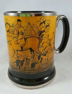 Arthur Wood Ye Olde Coaching and Hunting Day Quality England Mug in Collectibles, Barware, Glasses, Cups, Mugs | eBay