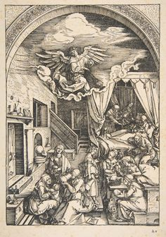 The Birth of the Virgin, from The Life of the Virgin