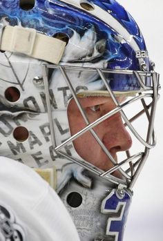 Toronto Maple Leafs goalie Frederik Anderson looks on prior to the first period of an NHL hockey game against the Buffalo Sabres, Monday, April in Buffalo, N. (AP Photo/Jeffrey T. Hockey Goalie, Hockey Games, Hockey Players, Buffalo Games, Goalie Mask, April 3, Toronto Maple Leafs, Montreal Canadiens, Sports Teams
