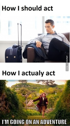 At the airport. Definitely me.