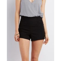 Charlotte Russe Ruched High-Rise Millennium Shorts