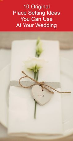 Check out these original DIY wedding place setting ideas. www.kardella.com
