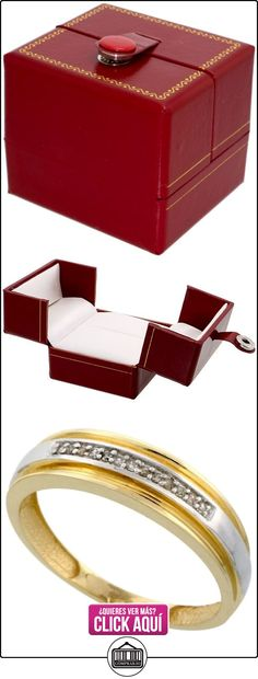 Revoni - Juego de alianzas de oro amarillo con diamante  ✿ Joyas para hombres especiales - lujo ✿ ▬► Ver oferta: http://comprar.io/goto/B0045RRE3K