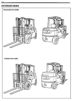 Toyota Electric Forklift Truck 5FBE10, 5FBE13, 5FBE15