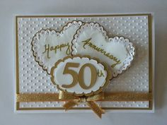 50th anniversary card I made for a co workers parents. DIY