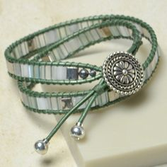 Spring Thaw Mosaic Wrap Bracelet, By: Samantha Applegate