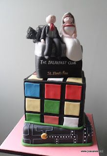 Jo's Cakes: 80s Themed Wedding Cake
