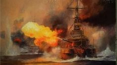 2012 Battleship SMS Pommern in Battle of Jutland art painting for sale; Shop your favorite 2012 Battleship SMS Pommern in Battle of Jutland painting on canvas or frame at discount price. Military Art, Military History, Ship Of The Line, Art Paintings For Sale, Boat Painting, Nautical Art, Navy Ships, World War One, Ship Art