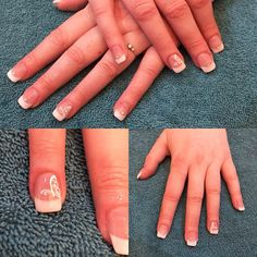 Gel extensions with French tips and #butterflies for a clients #wedding. #nails #gelnails #frenchmanicure #nailart #crystal #the #beauty #centre #braintree
