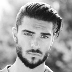 Combine hairstyles with a beard – 5 trendy hairstyles and the right beard length - New Hair Styles 2018 Undercut Men, Undercut Hairstyles, Trendy Hairstyles, Straight Hairstyles, Hairstyle Short, Hairstyles 2016, Hairstyle Ideas, Short Undercut, Summer Hairstyles
