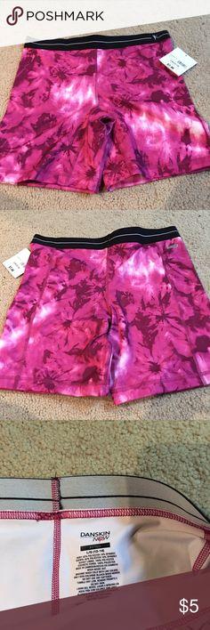 Danskin spandex pink print shorts Danskin pink print spandex shorts NWT size Large. Danskin Now Shorts