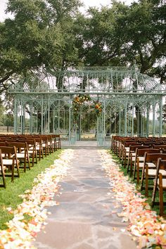 Gorgeous Fall Outdoor Conservatory Wedding At Ma Maison Texas