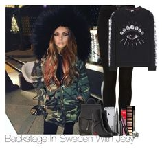 """""""Jesy~#12"""" by lauren-beth-owens ❤ liked on Polyvore featuring Topshop, Jeffree Star, Clarins, Ugo Cacciatori, Marc Jacobs, rag & bone, Christian Louboutin, Kenzo and JesyNelson"""