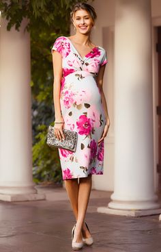Bardot Maternity Shift Dress Grand Jardin - Maternity Wedding Dresses, Evening Wear and Party Clothes by Tiffany Rose.