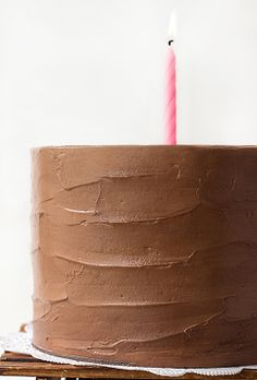 SIX-LAYER DARK CHOCOLATE CAKE WITH CHOCOLATE BUTTERCREAM