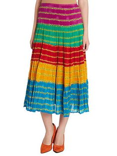 1bee2a9ab1 Lauren by Ralph Lauren Moriah tiered striped skirt Multi-Coloured - House  of Fraser What