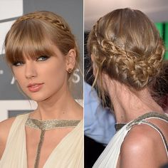 Taylor Swift with a milkmaid braid at The #Grammys. I really love milkman braids...