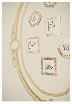 metallic sparkle wedding decor ideas