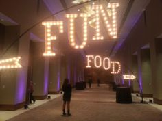 FOOD and FUN Marquee Letters on an ARC system
