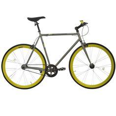 Muddyfox Fixie Bike in Grey/Lime