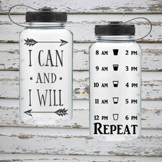 Health And Fitness: I Can and I Will 34oz Water Intake Tracker Bottle