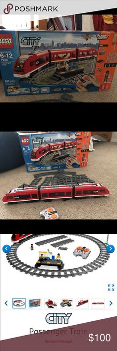Retired #7938 LEGO  Train set LEGO retired train set was originally $150New in 2010, now easy selling for over $200 since its retired This is not new, lightly used ONLY missing parts are The people sitting at the station  and that station waiting for train  so it is ONLY the train,tracks ,remote and box that  is in good condition instructions books 2,3,4 that all show how to put the train together if it's taken apart Read Less Lego Other