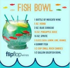 These creative alcoholic drinks will spruce up any party. 15 Delicious and Creative Alcoholic Drinks These creative alcoholic drinks will spruce up any party. Cocktails, Party Drinks, Cocktail Drinks, Cocktail Recipes, Super Bowl Party, Fishbowl Drink, Liquor Drinks, Alcoholic Beverages, Beverage Drink