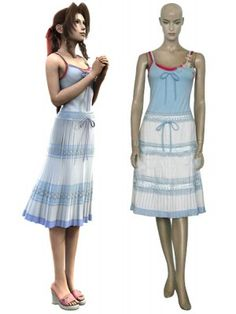 Final Fantasy VII Aerith Gainsborough Cosplay Outfits Costumes