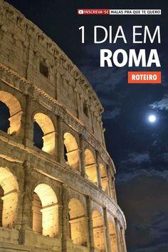 Procurando roteiro de 1 dia em Roma, na Itália? Aproveite para ver os principais pontos desta cidade fascinante com nossa sugestão de roteiro a pé.