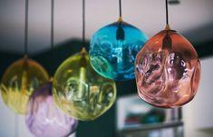 lou-brown-design-hayley-auckland-interior-design-glamour-3 Textured Wallpaper, Blown Glass Pendant Light, Custom Displays, Christmas Bulbs, Floral Arrangements, Hand Blown Glass, Blown Glass Pendant, Holiday Decor, Ceiling Lights