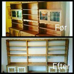 Diy restoration oak bookcase from 1978