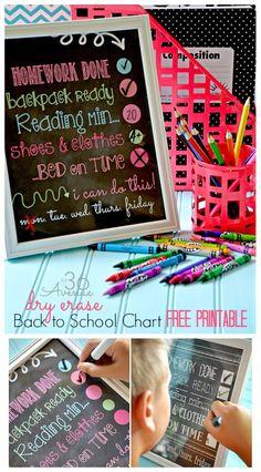 Back to School - Organization FREE PRINTABLES