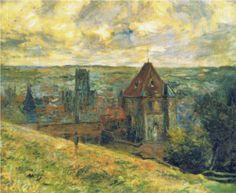 """""""Dieppe in Normandy"""" -- 1882 -- Claude Monet"""